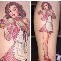 Pinup Girl (tattoo) 200x200